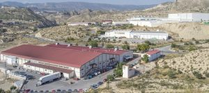 Imagen aérea de la factoría de José Garrigós, una de las principales exportadoras de Xixona./FOTO MADE IN JIJONA