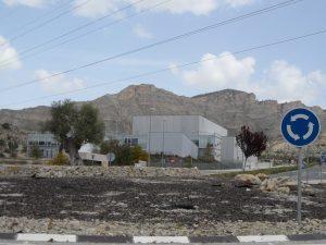 Rotonda d'accés al polígon industrial Espartal III de la Generalitat./FOTO BERNAT SIRVENT