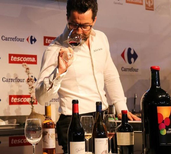 Quique Dacosta, en la presentación del maridaje de sus platos con vinos Alicante DOP en Alicante Gastronómica./FOTO QUIQUE DACOSTA
