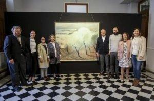 La familia de José Pérezgil en el acto de inauguración, ayer, en la Diputación./FOTO PILAR CORTÉS (DIARIO INFORMACIÓN)