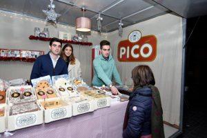 Les noves generacions de Turrones Picó a l'stand de la Fira del Torró i Nadal de Xixona./FOTO WEB PICO