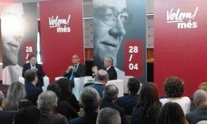 Ximo Puig, el rector de la UA y Perfecto Palacio, hace un rato, en el Aula de la CAM de Alicante./FOTO MADE IN JIJONA
