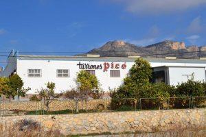 Detall parcial de la fàbrica de Turrones Picó, molt a prop del polígon industrial públic de l'Espartal III./FOTO WEB PICÓ