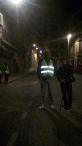Concentració de pelegrins xixonencs al bar Monterrei a les tres de la matinada de hui.