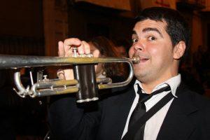 Mario Esteve Ramón tocant la seva trompeta./FOTO FACE MARIO