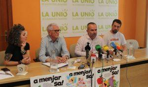 El presidente de IVIFA, Joan Ramón Peris; la coordinadora del Plan, Betlem Albero y el secretario general de la Unió de Llauradors, Carles Peris./FOTO IVIFA