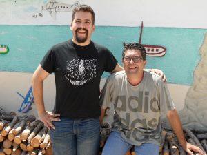 Edgar Zaragoza junto a su padre Alfonso./FOTO MADE IN JIJONA
