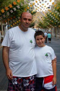 Bernardo Garrigós y su hijo Guerau, protagonistas de esta aventura festera./FOTO FEDERACIÓ
