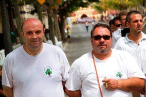Desfile de la Banyà en compañía de Gaspar Valverde, fester de l'any cristià de 2019./FOTO FEDERACIÓ