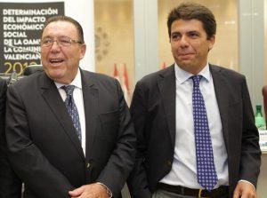 Garrigós y Mazón (ex director de la Cámara de Comercio y actual presidente de la Diputación), en una imagen de archivo./FOTO MADE IN JIJONA