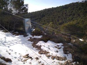 Cables de media tensión de Iberdrola por el suelo. La imagen corresponde al pasado viernes./FOTO MADE IN JIJONA