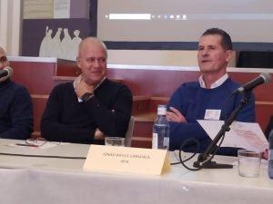 Federico Dicenta e Ignasi Batlle, dos de los mayores expertos e investigadores de la almendra en el mundo./FOTO MADE IN JIJONA