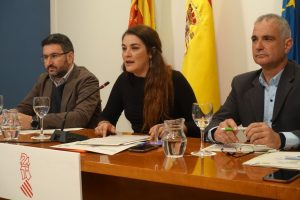 La consellera Mireia Mollà, en una reciente rueda de prensa en la Conselleria./FOTO GENERALITAT