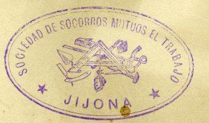 Membrete de la Sociedad de Socorros Mutuos El Trabajo. Década de 1910