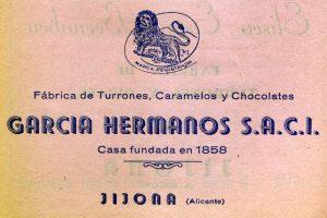 Anuncio de 1/2 página publicado en el Programa de Fiestas de Moros y Cristianos de 1954.