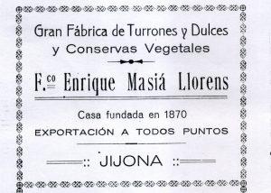 Anuncio de 1/2 página publicado en El Programa de Fiestas de Moros y Cristianos de 1924.