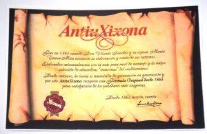 Certificado de garantía que aparece en el interior de los envases de cartón de la empresa Sanchis Mira SA. Aparece la fecha 1863.